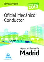 oficial mecanico conductor del ayuntamiento de madrid.  temario y test fernando martos navarro 9788467694376