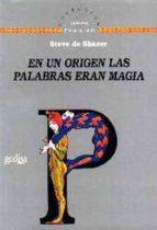 en un origen las palabras eran magia-steve de shazer-steve de shazer-9788474327076
