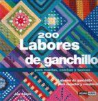 200 labores de ganchillo para mantas, colchas y tapices-jan eaton-9788475562476
