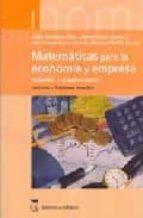 matematicas para la economia y empresa (vol. 1): algebra lineal. ejercicios y problemas resueltos julian rodriguez ruiz carmen garcia llams 9788496062276