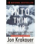 into thin air: a personal account of the mount everest disaster jon krakauer 9780385494786