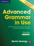 advanced grammar in use (3rd edition) (book with answers) martin hewings 9781107697386