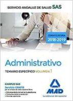 administrativo del servicio andaluz de salud. temario específico volumen 1-9788414211786