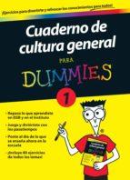 cuaderno de cultura general para dummies 1 9788432900686