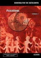 El libro de Psicolegs generalitat de catalunya. temari especific 2 autor VV.AA. EPUB!