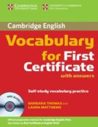 cambridge vocabulary for first certificate with answers and audio cd barbara thomas 9780521697996