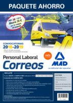 paquete ahorro personal laboral correos. (incluye temarios 1 y 2; test; simulacros de examen 1 y 2; psicotécnico y-9788414215296