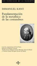 fundamentacion de la metafisica de las costumbres immanuel kant 9788430943296