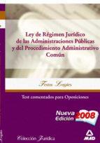 LEY DE REGIMEN JURIDICO DE LAS ADMINISTRACIONES PUBLICAS Y PROCED IMIENTO ADMINISTRATIVO COMUN. TEST COMENTADOS PARA OPOSICIONES