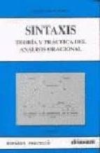 sintaxis: teoria y practicas del analisis oracional eugenio cascon martin 9788485789696