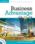 BUSINESS ADVANTAGE INTERMEDIATE STUDENT S BOOK WITH DVD - 9780521132206 - VV.AA.