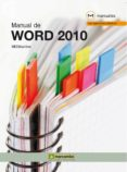 MANUAL DE WORD 2010 - 9788426717306 - VV.AA.