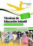 TÉCNICOS EN EDUCACIÓN INFANTIL. PERSONAL LABORAL (GRUPO III) DE L A ADMINISTRACIÓN DE LA COMUNIDAD AUTÓNOMA DE EXTREMADURA. TEMARIO ESPECIFICO VOLUMEN II - 9788467696226 - VV.AA.