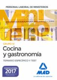 COCINA Y GASTRONOMIA PERSONAL LABORAL DE LOS MINISTERIOS: TEMARIO ESPECIFICO Y TEST - 9788414208236 - VV.AA.