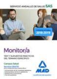 MONITOR/A DEL SAS: TEST Y SUPUESTOS PRACTICOS DEL TEMARIO ESPECIFICO - 9788414222966 - VV.AA.