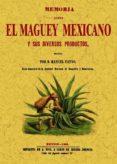 MEMORIA SOBRE EL MAGUEY MEXICANO Y SUS DIVERSOS PRODUCTOS (ED. FA CSIMIL) - 9788490012376 - MANUEL PAYNO