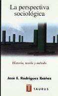 LA PERSPECTIVA SOCIOLOGICA: HISTORIA, TEORIA Y METODO - 9788430602896 - JOSE ENRIQUE RODRIGUEZ IBAÑEZ