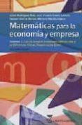 MATEMATICAS PARA LA ECONOMIA Y EMPRESA (VOL. 3) CALCULO INTEGRAL. ECUACIONES DIFERENCIALES Y EN DIFERENCIAS FINITAS. PROGRAMACION LINEAL - 9788496062696 - VV.AA.