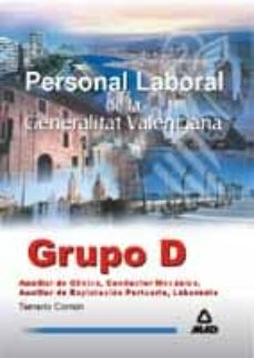 Vinisenzatrucco.it Personal Laboral De La Generalitat Valenciana. Grupo D: Temario C Omun Image