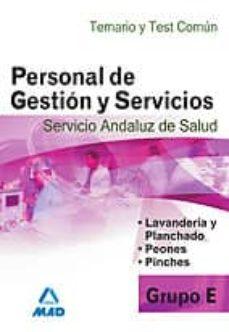 Inmaswan.es Personal De Gestion Y Servicios Grupo E Del Servicio Andaluz De S Alud. Temario. Test Comun Image