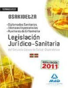Valentifaineros20015.es Temario Y Test De Legislacion Juridico-sanitaria Para Oposiciones Del Servicio Vasco De Salud-osakidetza(diplomados Sanitarios, Tec Image