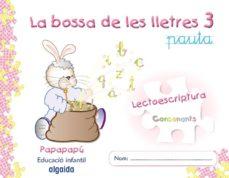 Mrnice.mx La Bolsa De Las Letras 3. Lectoescritura 5. Pauta (Papapapú Valencianoeducación Infantil 3-5 Años Image