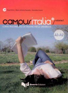 Permacultivo.es Campus Italia 1 (Libro). Corso Multimediale Di Italiano Per La Un Iversita. Nivel A1/a2 Image