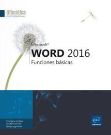 word 2016: funciones basicas-9782409001116