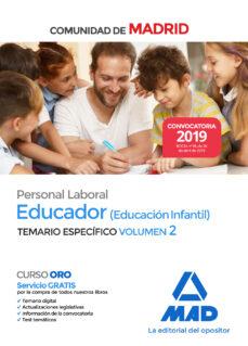 Trailab.it Educador (Educacion Infantil). Personal Laboral De La Comunidad De Madrid. Temario Especifico Vol. Ii Image