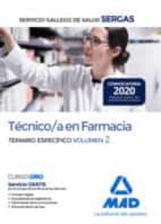 Lofficielhommes.es Técnico/a En Farmacia Del Servicio Gallego De Salud. Temario Específico Volumen 2 Image