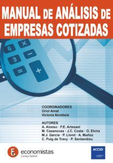Descargar MANUAL DE EMPRESAS DE ANALISIS COTIZADAS gratis pdf - leer online