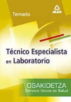 Vinisenzatrucco.it Tecnico Especialista En Laboratorio Del Servicio Vasco De Salud-o Sakidetza: Temario Image