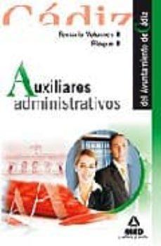 Cdaea.es Auxiliares Administrativos Del Ayuntamiento De Cadiz. Temario Vol Umen Ii (Bloque Ii) Image