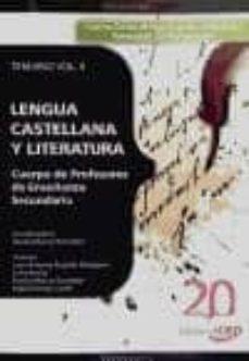 Inmaswan.es Cuerpo De Profesores De Enseñanza Secundaria. Lengua Castellana Y Literatura. Temario Vol. Ii. Image