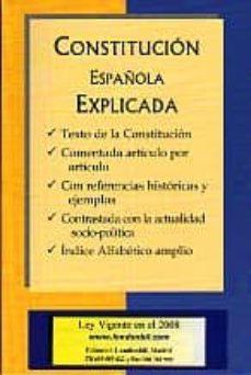 CONSTITUCION ESPAÑOLA EXPLICADA | VV.AA. | Comprar libro