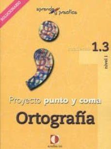 Eldeportedealbacete.es Proyecto Punto Y Coma: Cuaderno 1.2 Ortografia (Aprende Y Pract Ica) Solucionario Image