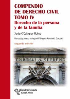 compendio de derecho civil (tomo iv): derecho de familia (2ª ed.)-xavier o callaghan muñoz-9788499612416