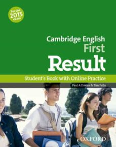 Descargar CAMBRIDGE ENGLISH: FIRST  RESULT STUDENT S BOOK WITH ONLINE PRACTICE TEST gratis pdf - leer online