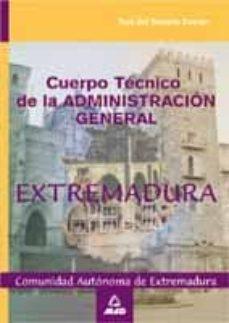 Bressoamisuradi.it Cuerpo Tecnico De La Administracion General De La Comunidad Auton Oma De Extremadura: Test Del Temario Comun Image