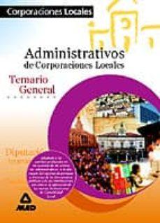 Padella.mx Administrativos De Corporaciones Locales: Temario General Image