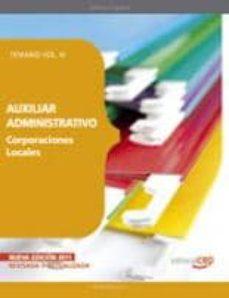 Mrnice.mx Auxiliar Administrativo De Corporaciones Locales. Temario Vol.iii Image