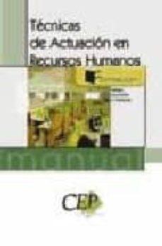 Padella.mx Manual Tecnicas De Actuacion En Recursos Humanos. Formacion Image