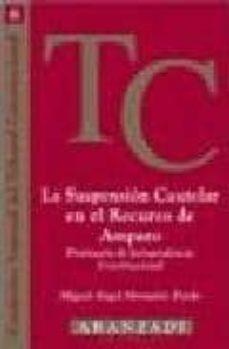 LA SUSPENSION CAUTELAR EN EL RECURSO DE AMPARO PRONTUARIO DE JURI SPRUDENCIA CONSTITUCIONAL - MIGUEL ANGEL MONTAÑES PARDO | Triangledh.org