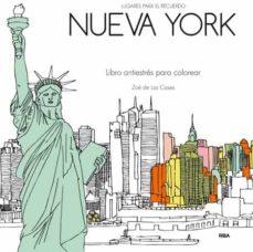 nueva york: libro antiestrés para colorear-zoe de las cases-9788490566626