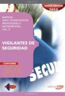 Geekmag.es Manual Vigilantes De Seguridad. Area Tecnico/socio-profesional E Instrumental Vol. Ii Image
