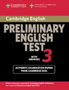 cambridge pet 3. student s book with answers (cambridge prelimina ry english test)-9780521754736