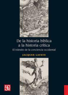 Inmaswan.es De La Historia Biblica A La Historia Critica: El Transito De La Conciencia Occidental Image