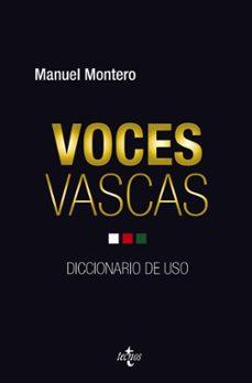 voces vascas: diccionario de uso-manuel montero-9788430961436