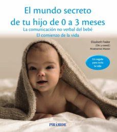 el mundo secreto de tu hijo de 0 a 3 meses: la comunicacion no verbal del bebe: el comienzo de la vida-elizabeth fodor-montserrat moran-9788436834536