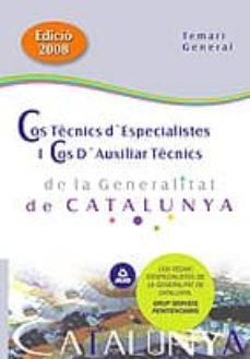 Inmaswan.es Cos Tecnics D Especialistes I: Cos D Auxiliars Tecnics De La Gene Ralitat De Catalunya: Temari General Image